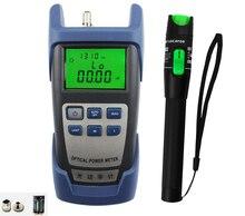 2 in 1 glasvezel tool kit 20 MW VFL glasvezel visual fault locator en 70 ~ + 10bdm glasvezel laser power meter Gratis verzending