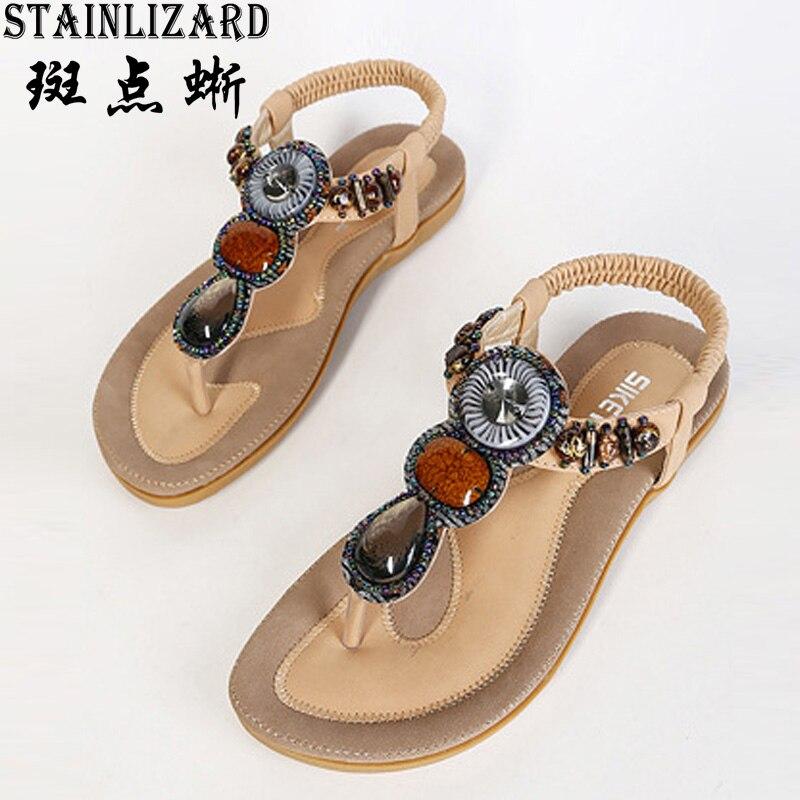 Female Flip Flops 2017 Summer Women New Fashion Sandals Beach Bohemian Flat Shoes Wild Women Summer