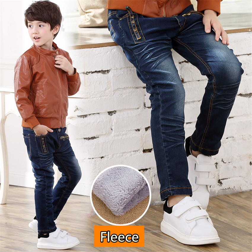 3-10 y child winter pants for boys jeans kid denim pants spring autumn boy clothes children elastic jeans warm trousers 10 years стоимость