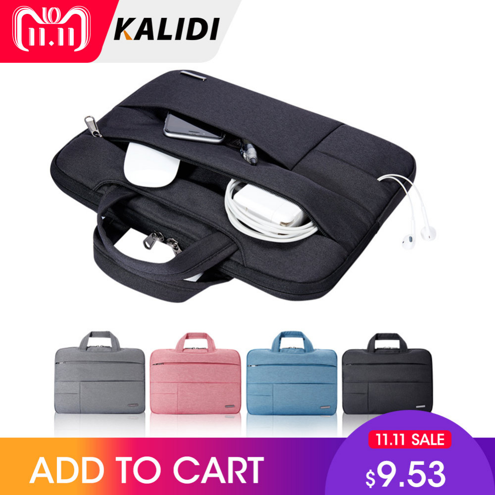 KALIDI Laptop Bag Sleeve 13.3 14 15 15.6 Inch Notebook Bag For Macbook Air Pro 11 13 15 Dell Asus HP Acer Sleeve for Men Women notebook bag 12 13 3 15 6 inch for macbook air 13 case laptop case sleeve for macbook pro 13 pu leather women 14 inch