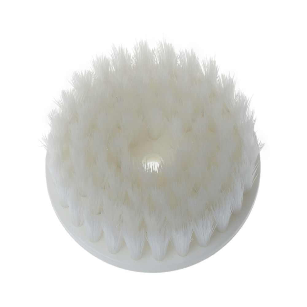 60 мм белая мягкая дрель с питанием головка щетки для очистки автомобильный коврик для ванной ткань новая