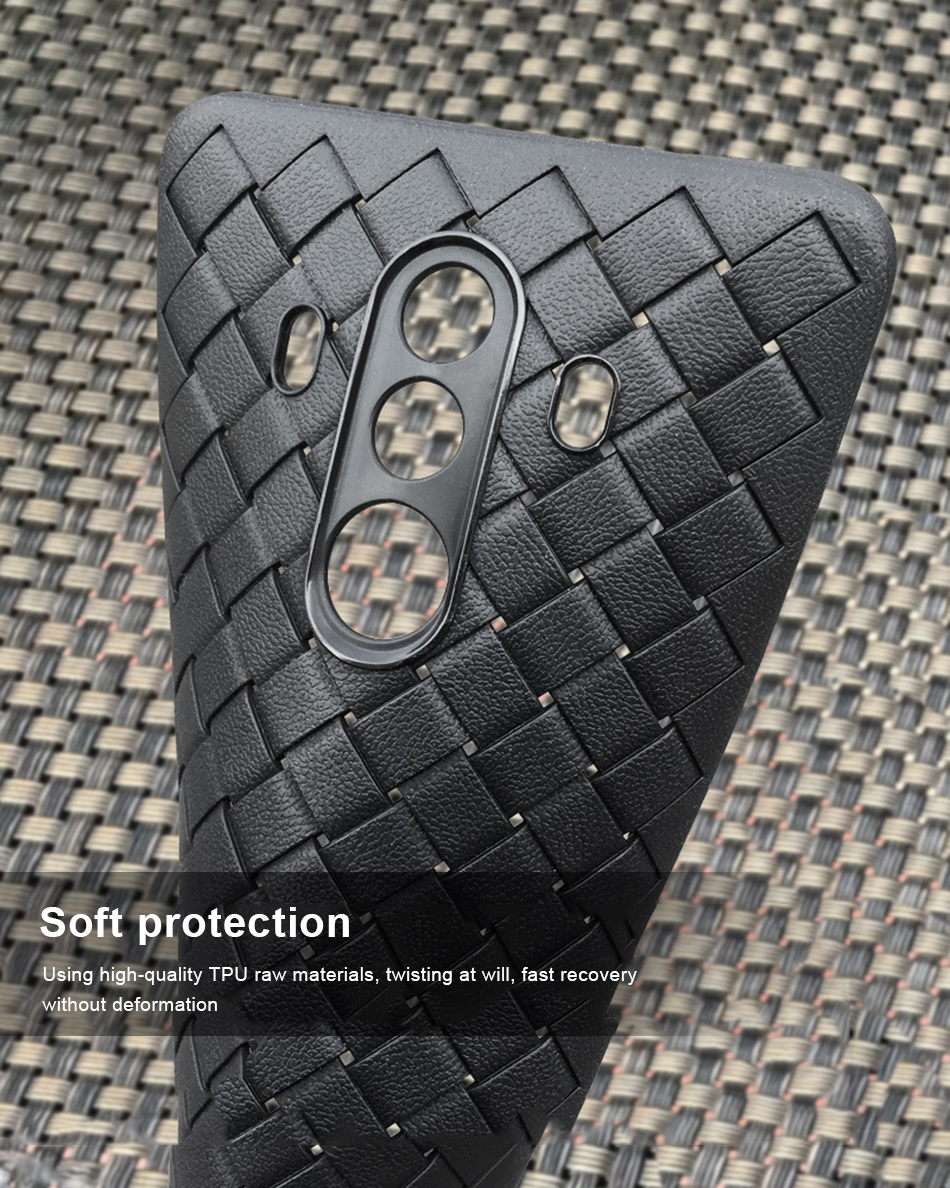 !ACCEZZ Luxury Soft TPU Ultra-thin Protective Back Cover Shell For Huawei Mate1010pro Phone Cases BV Weave Capa Fundas Coque (9)