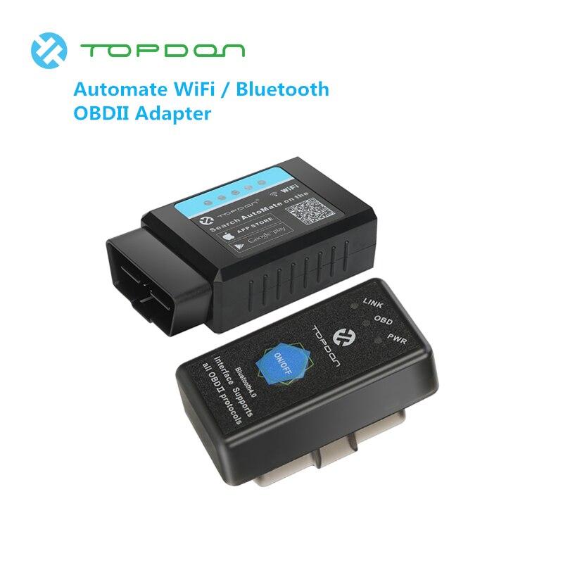 TOPDON ELM327 Pro автоматизировать Wi-Fi Bluetooth PICI8F25K80 считыватель  кода EOBD Обновление версии