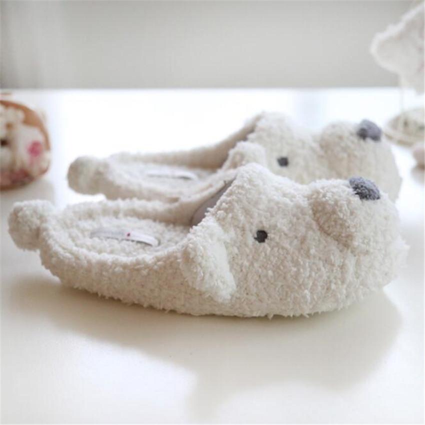 Домашние тапочки белый медведь