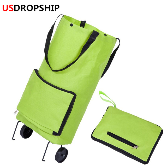 df5f65e228 USDROPSHIP Folding Shopping Bag Shopping Trolley Bag on Wheels Bags on  Wheels Buy Vegetables Shopping Organizers Portable Bag