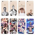 Fashion JUSTIN BIEBER Design Phone Cases For iPhone SE 5 5S 6 6S 7 Plus Transparent Plastic Back Cover Coque For iPhone 7 4.7""