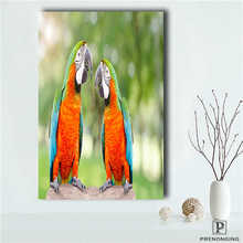 Custom The parrot (1) Printing Posters Cloth Fabric Wall Art Pictures For Living Room Decor#18-12-10-18-43(China)