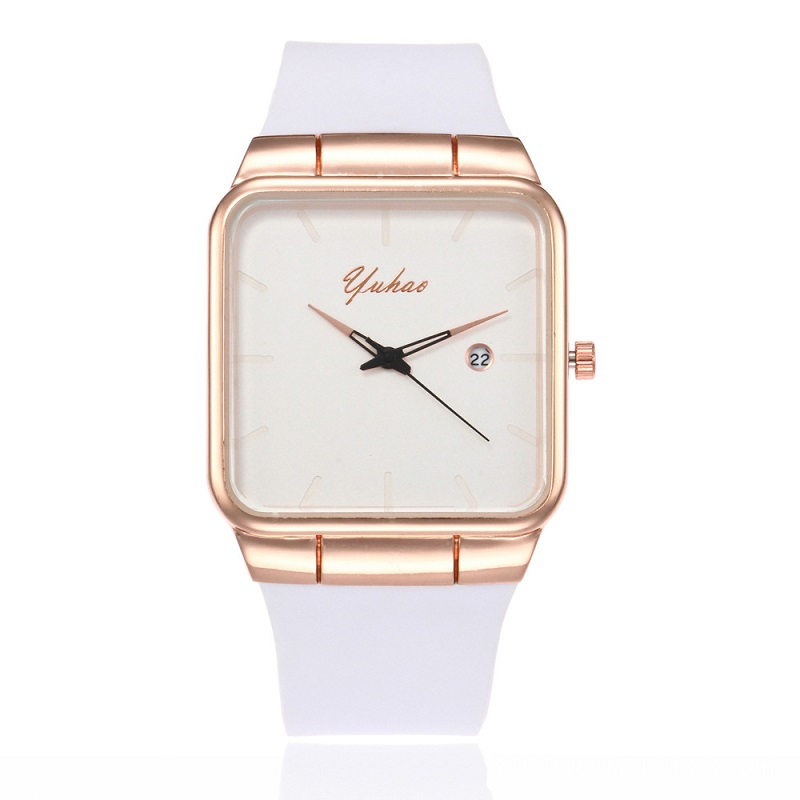 new Ultra Thin Women Watches Silicone Square reloj mujer Luxury Dress Watch Ladies Quartz Rose Gold watch Montre Femme Relogio sinobi luxury diamond watch women watches metal mesh ultra thin women s watches ladies watch clock saat montre femme reloj mujer