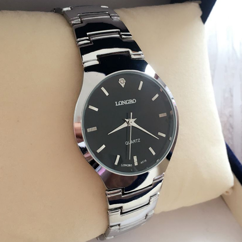Fashion Top Luxury Brand LONGBO Watches Women Stainless Steel Mesh Strap Quartz Watch Ultra Thin
