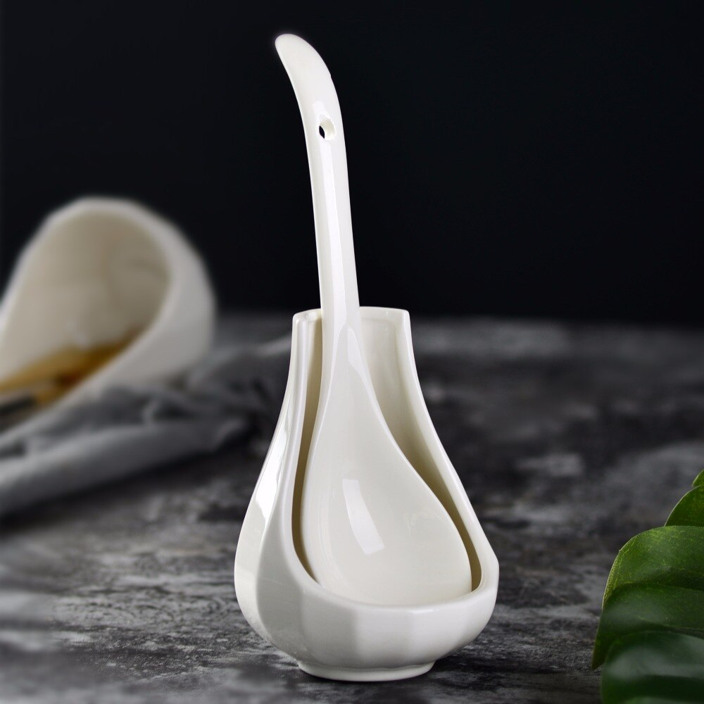 US $6.78 36% OFF|Yolife Kitchen Cooking Tools Kitchen ceramic Spoon Rest  Utensil Spatula Holder Heat Resistant-in Spoon Rests & Pot Clips from Home  & ...