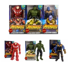 Hot Sale Action Figures Marvel Avengers Infinity War Thanos Iron Man Hulk Hulkbuster PVC Collection Model Toys For Gifts