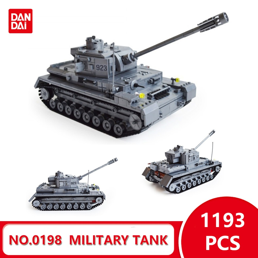 Compatible With Legoingly Blocks World War II Large Panzer IV Tank Military tank Model Building Blocks DIY Bricks  Gifts GK30