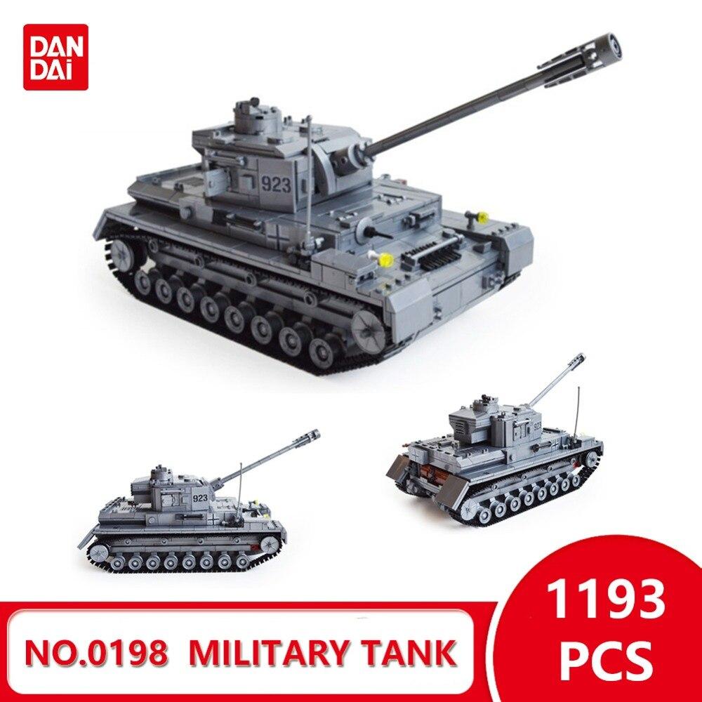 Compatible With Legoingly Blocks World War II Large Panzer IV Tank Military tank Model Building Blocks DIY Bricks Gifts GK30