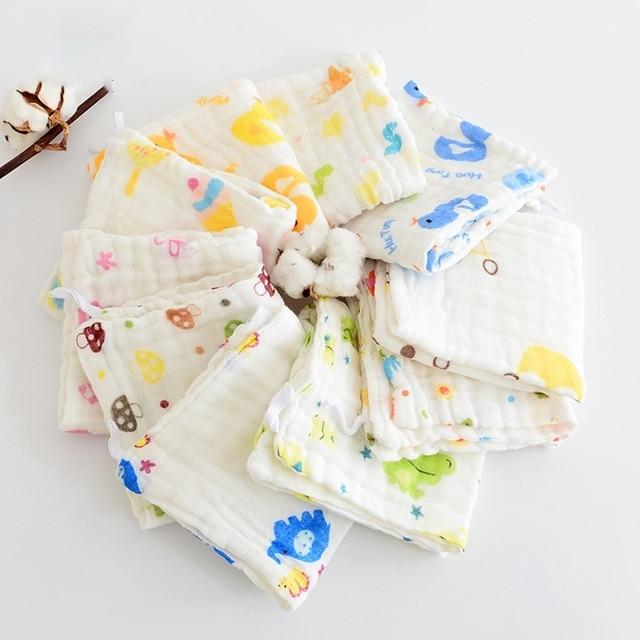 30*50 bebé pañuelo Aquare toalla muselina algodón cara infantil toalla paño
