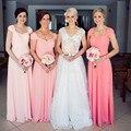 Custom Color &Size!2016 New Chiffon Straps long bridesmaid dresses wedding Prom Dresses party dress Plus size vestido de noiva