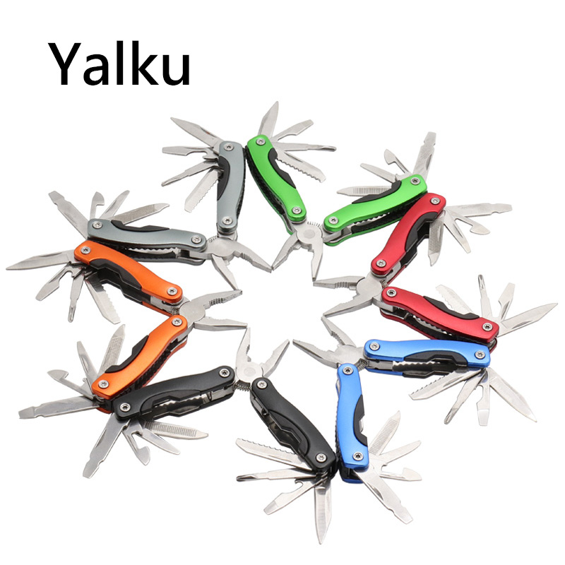 Yalku High Quality Multi Tools Pliers Screwdriver Kit Camping Climbing Hiking Plier Pocket Cutting Multitool Black Hand Tool portable outdoor multi function pliers multi tools pocket folding plier cutting tools with screwdriver kit for camping hiking