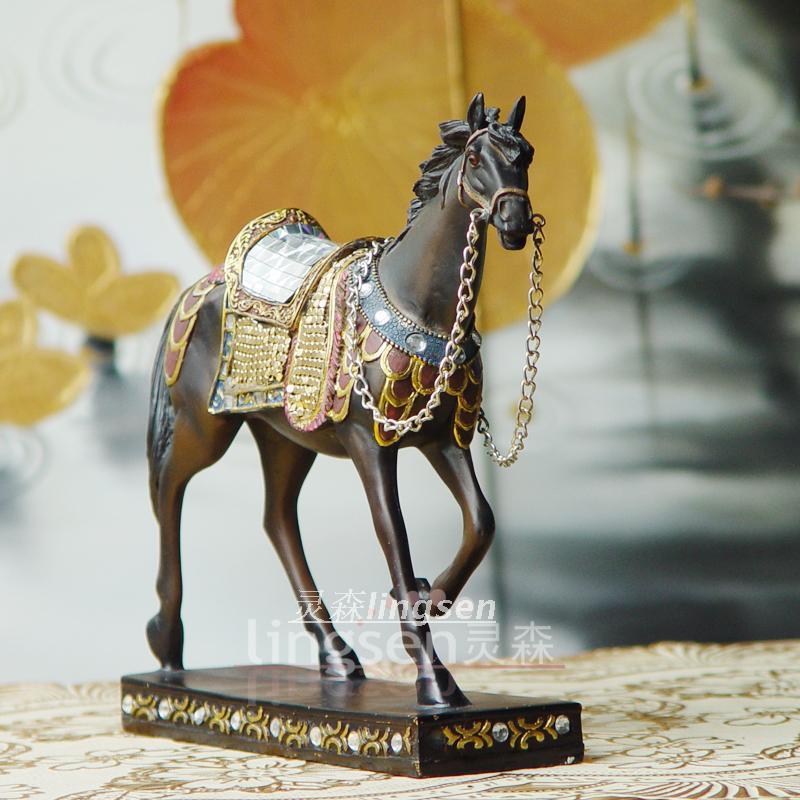[Sen] boutique resin Spirit Horse modern European home accessories / rural crafts animal ornaments / gift