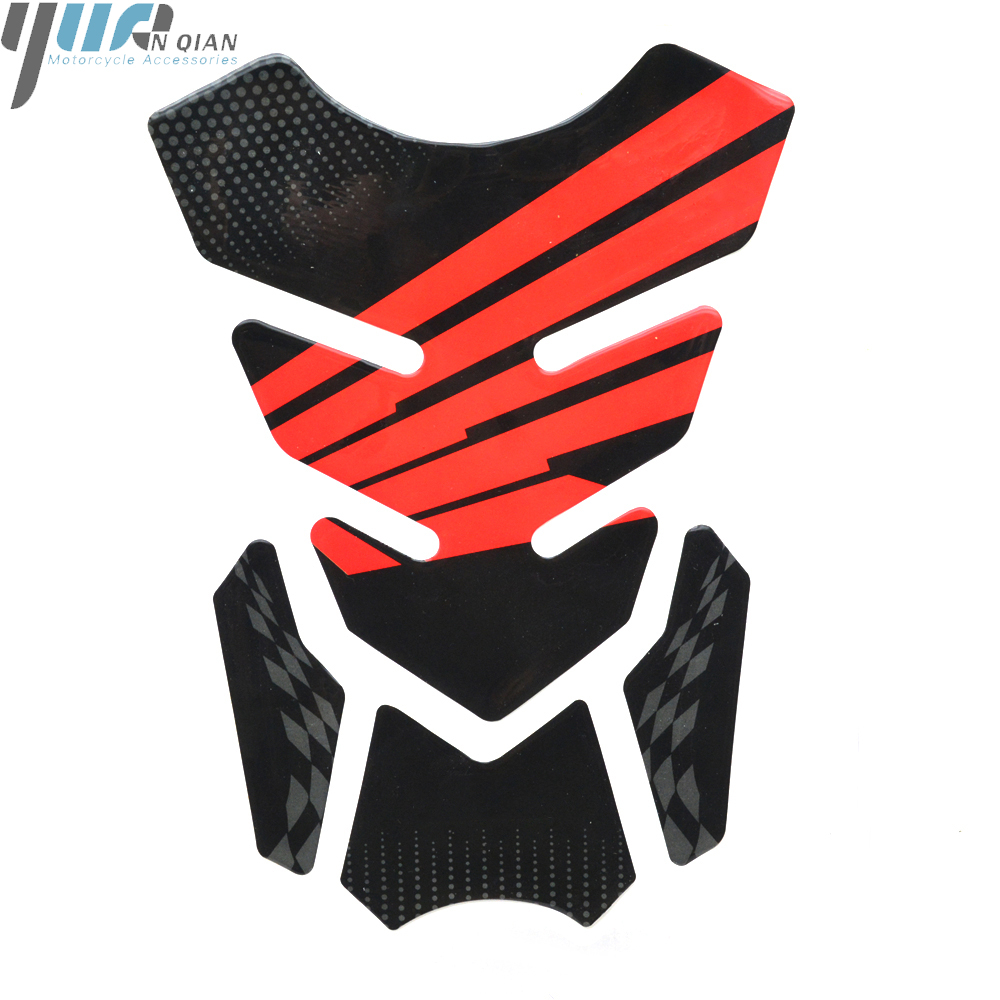 Image 2 - 3D Motorcycle Decal Gas Fuel Tank Pad Protector Skull Racing Sticker For HONDA CBR600RR CBR1000RR HRC RACING Tank Cover Pad-in Decals & Stickers from Automobiles & Motorcycles