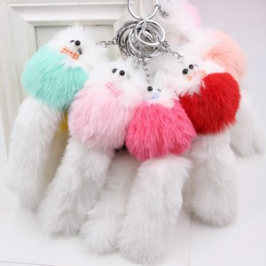 Cute little fox fur bag pendan