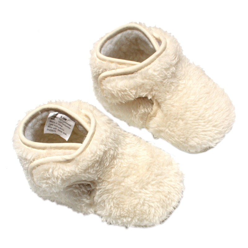 Winter Shoes Baby Boys Girls Lovely Warm Plush First Walkers Infant Soft Slipper Crib Shoes For 6-18Month Kids