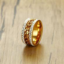 Новинка 2020 высокое качество мужские кольца золотого цвета