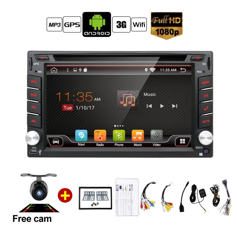 Auto Android 6.0 Car Audio Nawigacja GPS 2DIN Car Stereo Radio Samochodowe GPS Bluetooth USB/Uniwersalny Odtwarzacz TV Wymienne 8G MAPIE