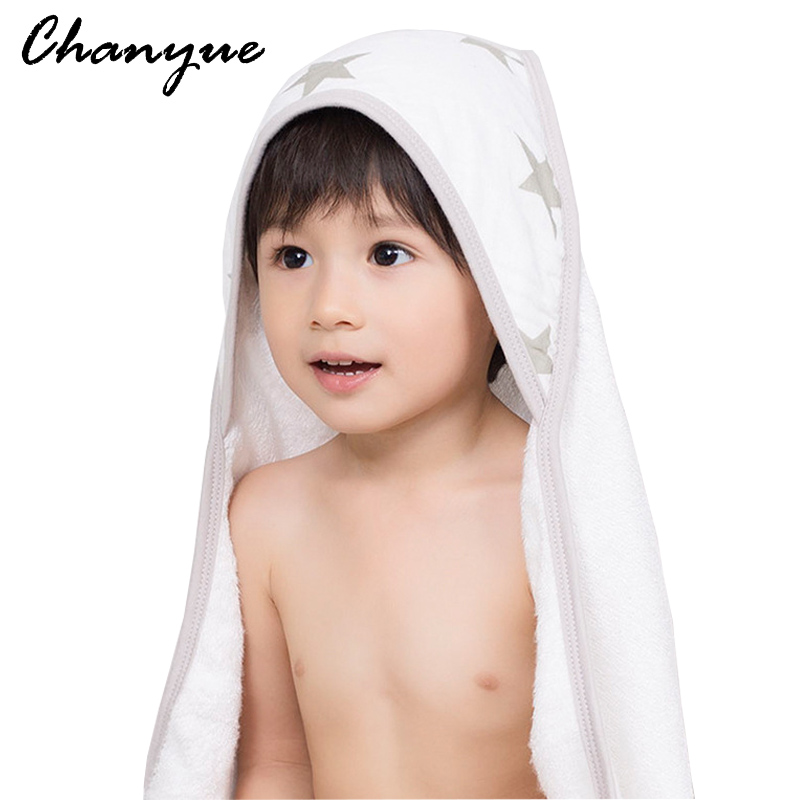 Chanyue Baby Hooded Bath Towel Soft material 100% Bamboo Cotton Kids Bath Towels Children Hand towel Newborn Beach Towel