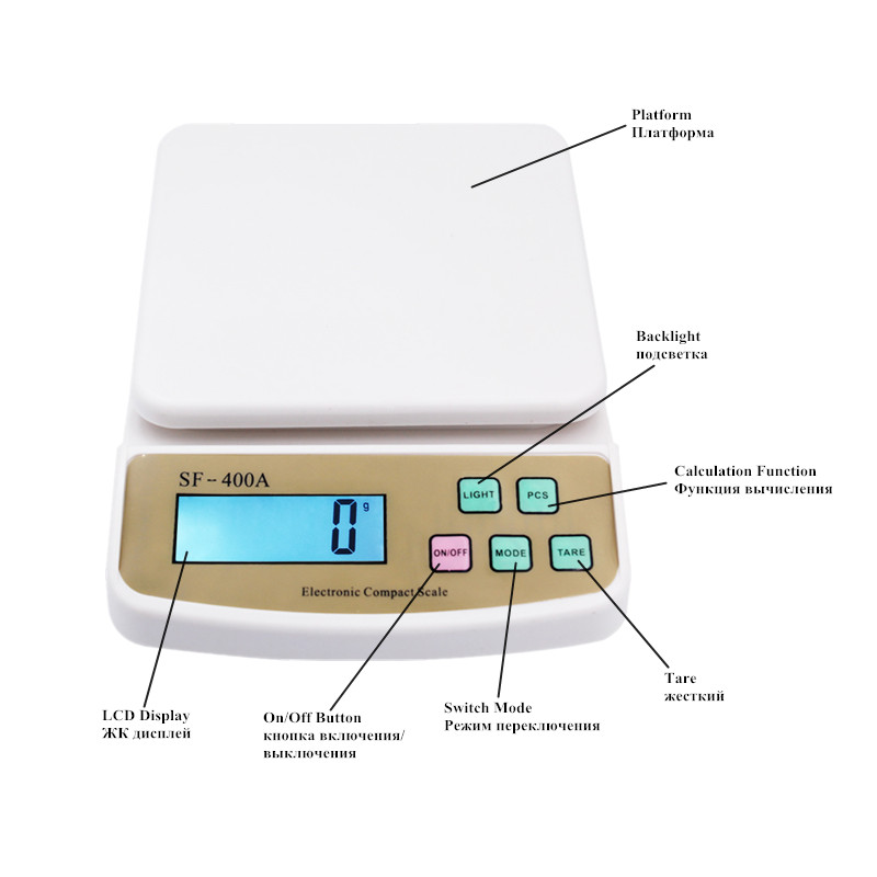 Весы Кухонные цифровые, 2/5/10 кг, 1/0,1 г-2