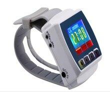 Nuevo modelo fisioterapia 650nm muñeca Diode low level laser therapy tlbi 8 laser light + masaje de impulsos