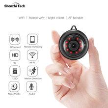 Mini IP Camera, Wireless Security HD Camera WiFi Camera with Night Vision 2 Way Audio Motion Tracker (Hook type)