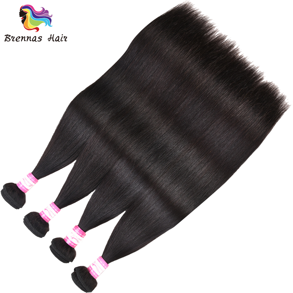 100 Peruvian Silky Straight hair bundles 4pcs in one pack Human Remy Hair bundles soft no