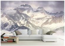 Custom 3d wallpaper for walls 3 d wall murals wallpaper Hd plateau snow mountain scenery background wall paper 3d wall decor