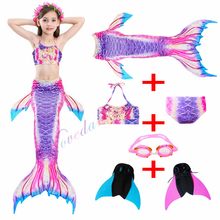 Kids Mermaid Swimsuit Bikini Girls Tail With Monofin Childs Wear Split Clothing Swimwear