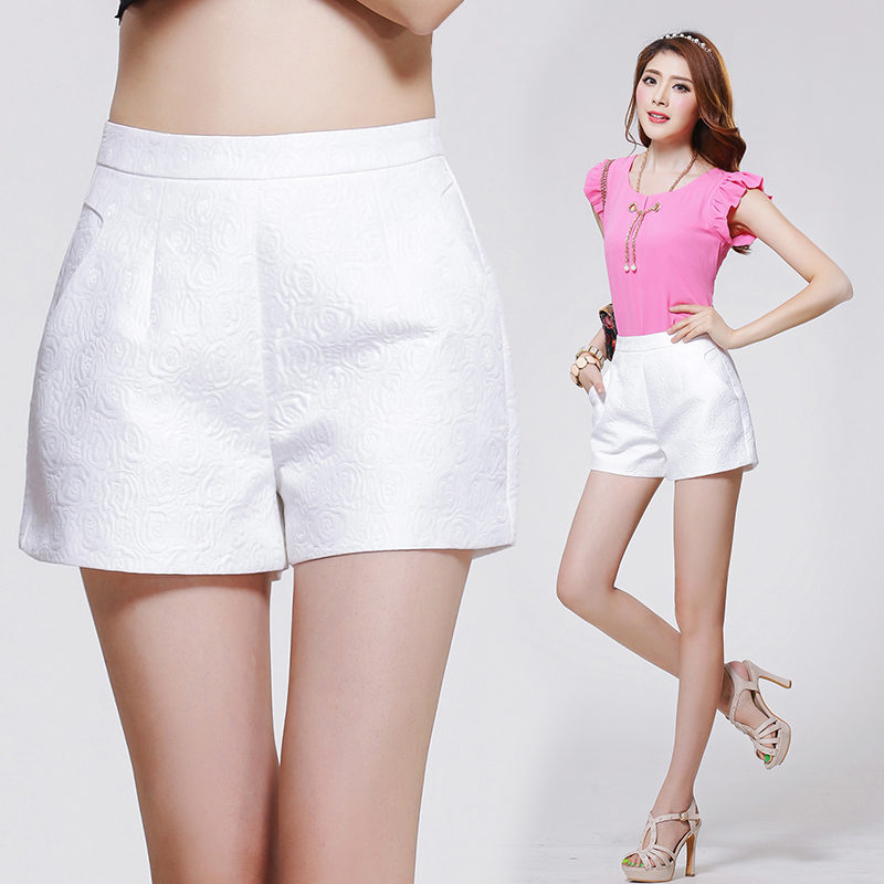 Online Shop 2015 spring and summer jacquard a high waist shorts ...