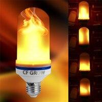 E26 E27 LED эффект пламени огня лампочки SMD2835 мерцающие декоративные пламя лампы 1200 К AC85V ~ 265 В