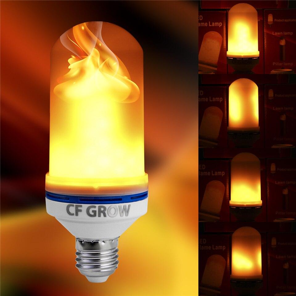 e26 e27 chama levou efeito lampada de fogo ac85v smd2835 cintilacao chama decorativo lampada 1200 k