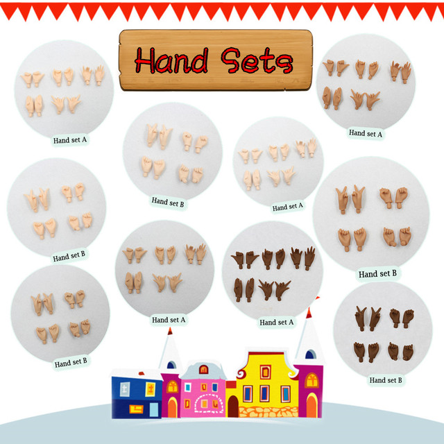 Neo Blythe Doll Hand Set For Jointed Doll
