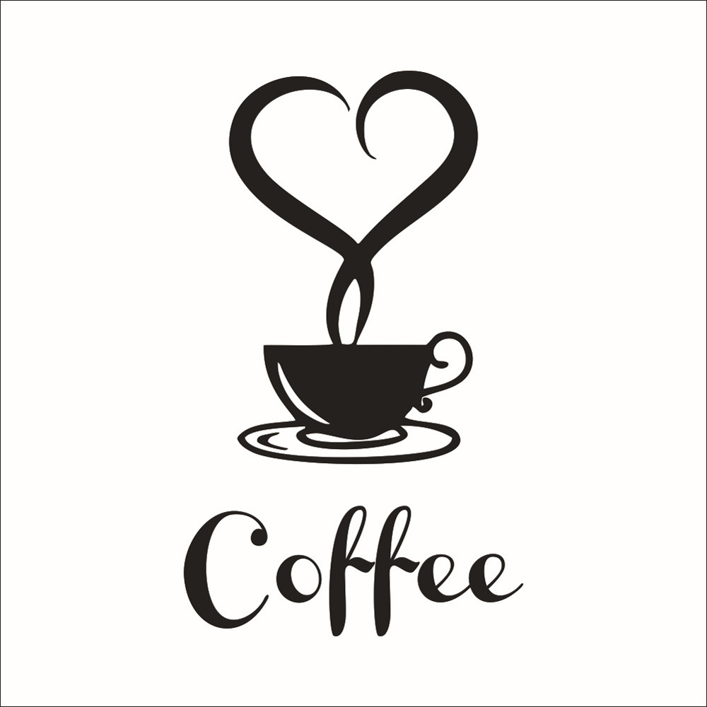 Us 2 14 37 Off Diy Kitchen Decor Coffee Cup Decals Vinyl Mug Wall Sticker Removable Stickers Home In From