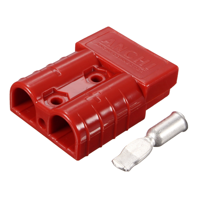 2016 High Quality 50A 8AWG Battery Quick Connector Plug Connect Disconnect Winch Trailer Red Black 2 Colors For RC Toys Part