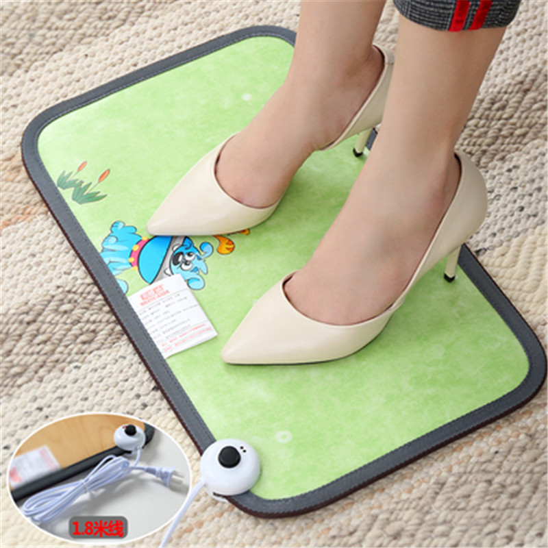 SF-3,Electric Heating Foot Mat Warmer Electric Heating Pads Feet Leg Warmer Carpet Thermostat Warming Tools Home Office Leather