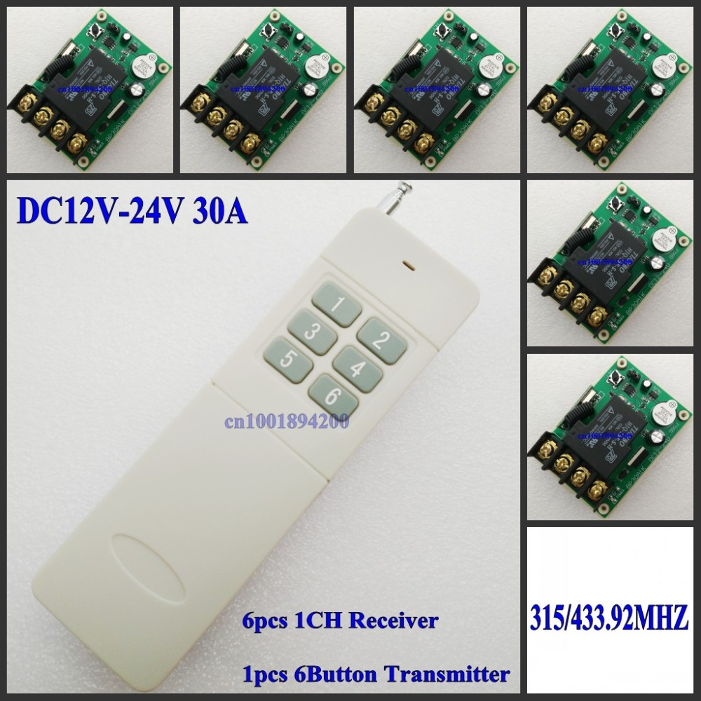 все цены на DC12V 13V 14V 15V 16V 18V 24V Relay Remote Control Switch 30ARelay NO COM High Load Current RF Wireless Switch ASK Smart 315/433 онлайн