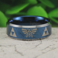 Free Shipping USA UK Canada Russia Brazil Hot Sales 8MM Blue Silver Bevel LEGEND Of ZELDA