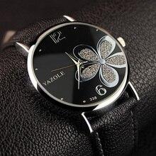 YAZOLE Flower Quartz Watch Women Watches 2017 Brand Luxury Fashion Female Clock Wrist Watch Ladies Montre Femme Relogio Feminino