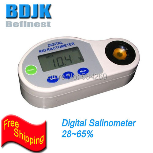 28-65% Digital Salinity Refractometers, Salt Meters with ATC Salinometer, Free Shipping28-65% Digital Salinity Refractometers, Salt Meters with ATC Salinometer, Free Shipping