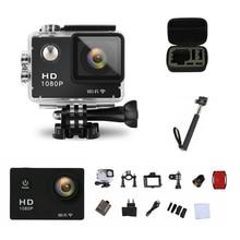 Goldfox экшн-камеры 1080 P Full HD 30 м Go Водонепроницаемый Pro камеры Спорт DV велосипед шлем автомобилей Cam с Розничная упаковка