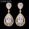 Классические серьги-подвески EMMAYA золотого цвета с фианитами, модные ювелирные изделия для помолвки, подарок для женщин