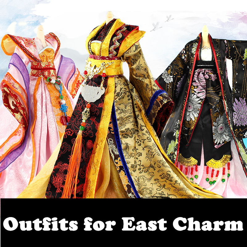Fortune days East Charm Chinese style outfit gorgeous dress Ancient girl only clothes gift toy east of charm 2015 bq25