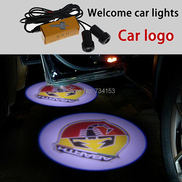 2pcs/The scorpion logo car logo door light LED Welcome Light ghost shadow light laser lamp free shipping