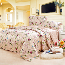 19 Mommie Luxury Silk 4 Pieces Bedding Set 100% Real Mulberry Single Double Size Bed Sheet Duvet Cover Pillowcase