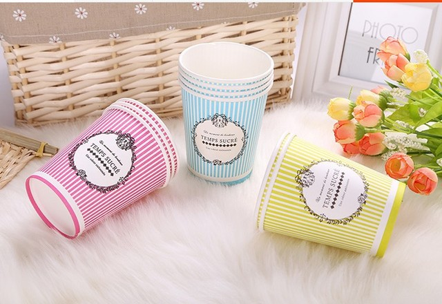 Disposable Drinking Cups Paper Coffee Cup For Wedding Party Accessories Tea